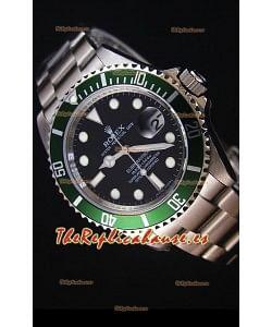 Rolex Submariner 11610LV Green Bezel - Reloj Replica Suizo La mejor y última Edición de 2017