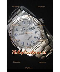 Rolex Datejust II 41MM Reloj Replica Suizo con Movimiento Cal.3136 Numerales en Numeros Arabigos