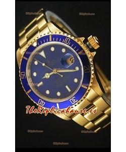 Rolex Submariner 16618 Reloj Replica Suiza 1:1 en Oro con Movimiento Suizo 3135