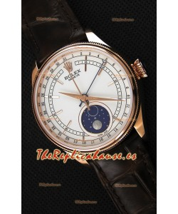 Rolex Cellini Moonphase Rose Gold REF# 50535 Reloj Réplica Suizo