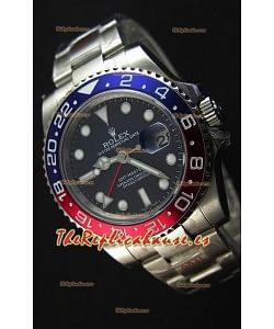 Rolex GMT Masters II 116719BLRO Pepsi Bezel Cal.3186 Movement Réplica Suiza - Reloj Ultimate de Acero 904L