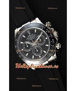 Rolex Cosmograph Daytona Dial Negro Movimiento Original Cal.4130 - Reloj de Acero 904L