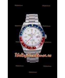 Rolex GMT Master Vintage Edition Reloj Réplica Suizo en Dial Blanco