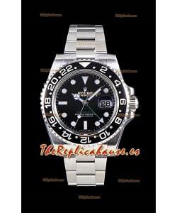 Rolex GMT Master II 116710LN Bisel de Cerámica Movimiento Cal. 3186 Réplica Suiza - Reloj de Acero 904L Ultimate
