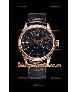 Rolex Cellini Date Ref#50515 Réplica a Espejo 1:1 Oro Rosado Dial Marrón Reloj en Acero 904L