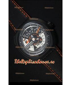 SevenFriday V02-01 Movimiento Miyota 82S7 Edición 1:1 Dial de Carbón