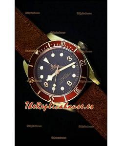 Tudor Heritage Bay Bronze Reloj Replica Suizo espejo 1:1 con Dos Correas