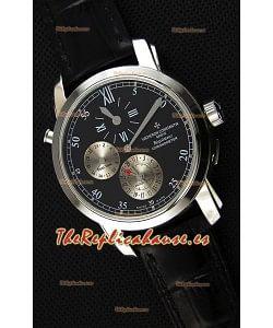 Vacheron Constantin Malte Dual Time Regulator Reloj Réplica Dial Negro