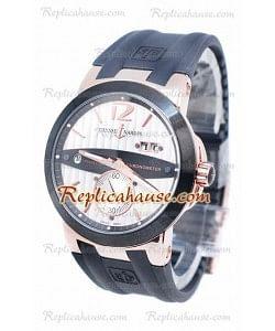 Ulysse Nardin Executive Dual Time Dial en oro rosa Blanco Reloj