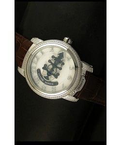 Ulysse Nardin Dual Escapement Reloj Japonés Dial Blanco