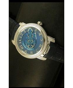 Ulysse Nardin Dual Escapement Reloj Japonés Dial Azul y Negro