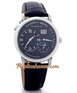 A. Lange Sohne Lange 1 MoonPhase Leather Reloj