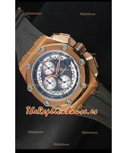 Audemars Piguet Royal Oak Offshore Michael Schumacher Reloj en Oro Rosado con Movimiento de Cuarzo