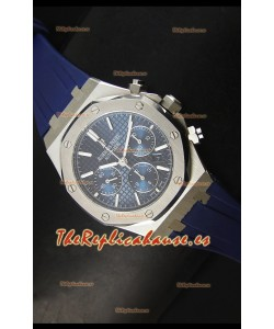 Audemars Piguet Royal Oak Reloj Cronógrafo en Acero Inoxidable Caja y Bisel en Azul