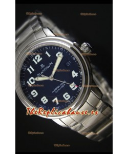 Blancpain Leman 2100 Military 100 Hours Reloj en Dial Negro - Movimiento Citizen Original