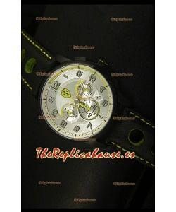 Scuderia Ferrari Heritage SF107 Reloj Cronógrafo en Acero Negro