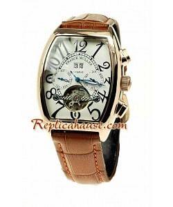 Franck Muller Conquistador Oro Rosa Tourbillon Reloj