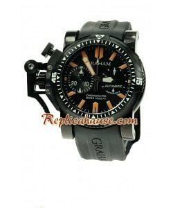 Graham Overtamaño Chronofighter Divers Reloj Suizo de imitación - PVD