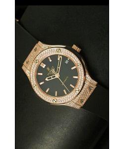 Hublot Classic Fusion 39MM Caja en Oro Rosado con Diamantes