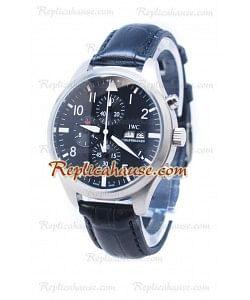 IWC Portofino Cronógrafo Schaffhausen Cara Negra Reloj