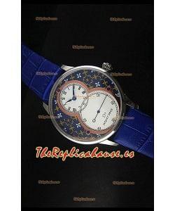 Jaquet Droz Grande Seconde Reloj en Azul Grand Feu paillonné-enameled