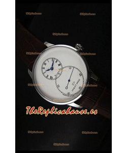 Jaquet Droz Grande Seconde Ivory Enamel Reloj con Caja de Acero Inoxidable Dial Blanco
