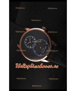 Jaquet Droz Grande Seconde Black Enamel Reloj con Caja en Acero Inoxidable Dial Negro