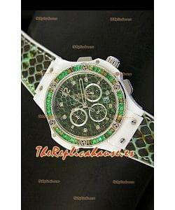 Hublot Big Bang estilo BOA, Dial/Correa Verde, 34MM
