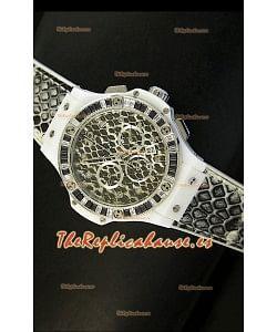 Hublot Big Bang Edición Snow Leopard MARIA HOFL -RIESCH, Reloj de 34MM