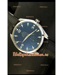 Omega Seamaster Railmaster, Reloj Réplica Japonesa, correa de cuero negro