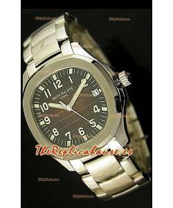 Patek Philippe 5167 Aquanaut Jumbo Reloj Réplica Suiza -  réplica en escala 1:1, Dial Marrón