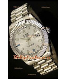 Rolex Day Date II, Reloj Réplica Suiza 41MM - Dial de Acero - réplica en escala 1:1