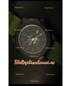 Rolex Submariner Edición STEALTH Reloj Réplica Suiza, correa verde