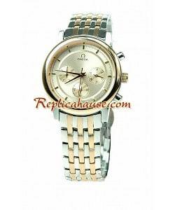Omega Co-Axial Deville Cronógrafo Reloj Réplica