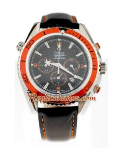 Omega Seamaster - Planet Ocean Leather Reloj