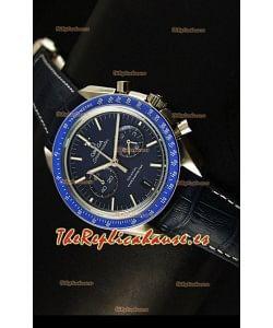 Omega Speedmaster Moon Reloj Réplica Japonés Co-Axial Dial en Azul Oscuro
