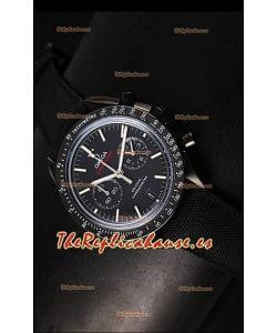 Omega Speedmaster Moon Reloj Réplica Japonés Co-Axial Dial. Caja color Negro