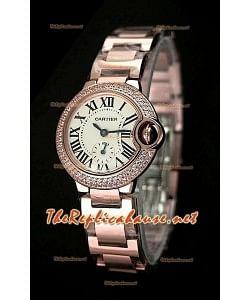 Ballon De Cartier Reloj para Señoras en Oro Rosa - Reloj Suizo