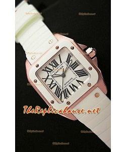 Cartier Santos 100 Réplica Reloj Suizo para Señoras -33MM- Réplica a Escala 1:1