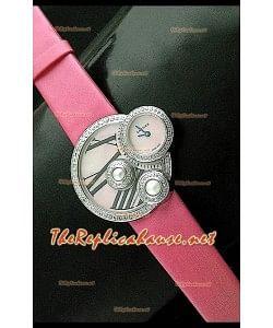 Perles de Cartier Reloj Suizo para Señoras en Acero Inoxidable Correa Penk