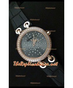 Chopard Xtraveganza Reloj para Señoras con Diamantes incrustados en carcasa en Oro Rosa