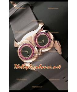 Chopard Animal World Reloj Señoras de Búho en Oro Rosa Esfera de color Negro