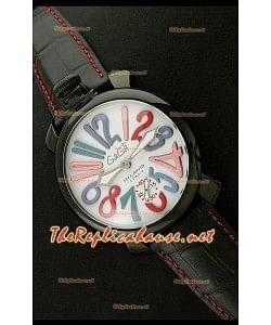 GaGa Milano Reloj manual en carcasa de PVD - 48MM