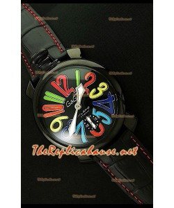 GaGa Milano Reloj manual en carcasa de PVD - 48MM - Color Arco iris