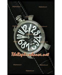 Reloj japonés GaGa Milano Manuale con esfera negra