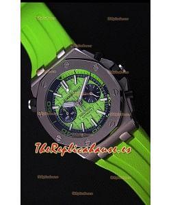 Audemars Piguet Royal Oak Offshore Reloj Réplica Cronógrafo de Cuarzo Suizo estilo Buzo en color Verde