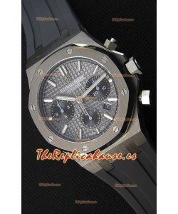 Audemars Piguet Royal Oak Reloj Réplica Suizo Cronógrafo Dial Gris tipo Pizarra Correa de Goma