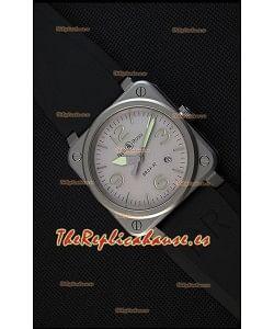 Bell & Ross BR03-92 Horolum Reloj Réplica Suizo a Espejo 1:1 Dial Gris Correa de Goma