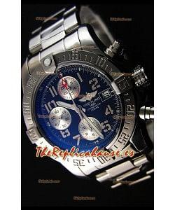 Breitling Skyland Avenger Reloj Réplica Suizo Cronógrafo Dial Negro Réplica a Espejo 1: 1