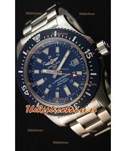 Breitling SuperOcean 44 Acero especial - Reloj Mariner Azul Réplica Suiza Con Correa de Acero